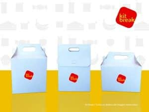 Embalagem para kit lanche caixa branca