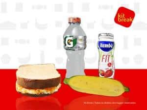 KIT LANCHE ATIVIDADE - Gatorade, Iogurte 170ml, Sanduíche Natural e Banana.