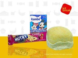 Achocolatado, Broa de Milho com Margarina e Barra de Cereal.